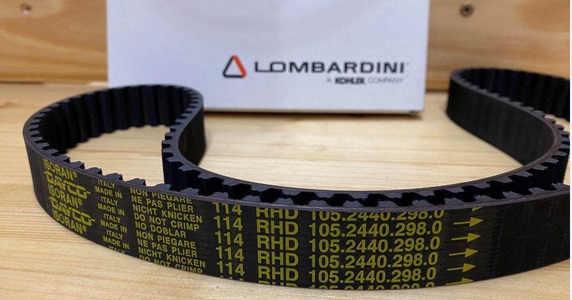 Courroie Distribution LDW602 LDW903 LDW1204 1085mm 114 dents LOMBARDINI (ancien modèle) ED0024402980-S 114 RHD 105.2440.298.0 =>