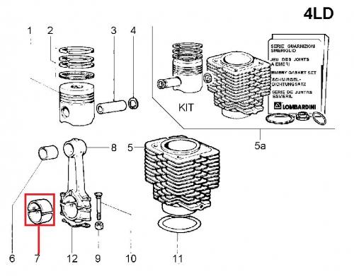 Coussinet bielle 4LD640 4LD705 LDA96 LDA97 LDA100 LDA672 LDA673 LDA674 832 833 834 LOMBARDINI Diesel - 1640024 ED0016400240-S / FIN024CR_STD