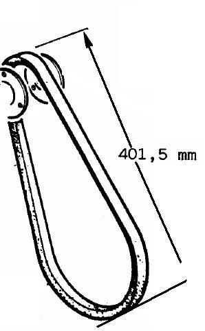 Courroie 8LD600- 8LD665-2 11LD525-3 11LD635-3  LOMBARDINI (803mm - t/m > 2000) 2440034 ED0024400340-S