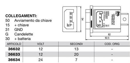 Relais prechauffage CERMAG 36632 (12V 13 secondes) / 36633 (12V 20 secondes) / 36634 (24V 7 secondes) COBO 00117067