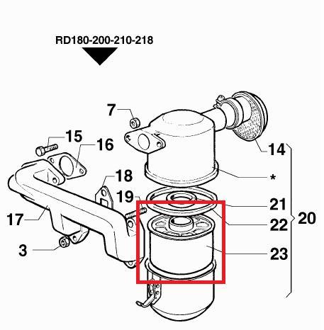 Element filtre air 12LD477-2 LOMBARDINI RD180 RD200 RD210 RUGGERINI 359R026 359.26 ED00359R0260-S