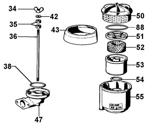 Filtre air bain huile IM250 IM300 IM350 IM352 IM359 LA300 LOMBARDINI INTERMOTOR 3700207