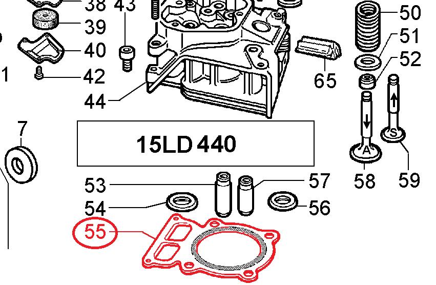 Joint culasse 15LD440 LOMBARDINI KD440 KOHLER Ø86.50mm  LOMBARDINI