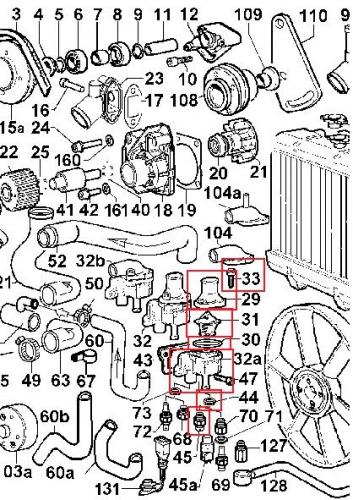 Boitier Thermostat FOCS LDW502 LDW602 LDW702 LDW903 LDW1003LDW1204 LGW523 LGA627 LOMBARDINI - F2M1008 F3M1008 F4M1008 DEUTZ 4896208 KOHLER ED0048962060-S