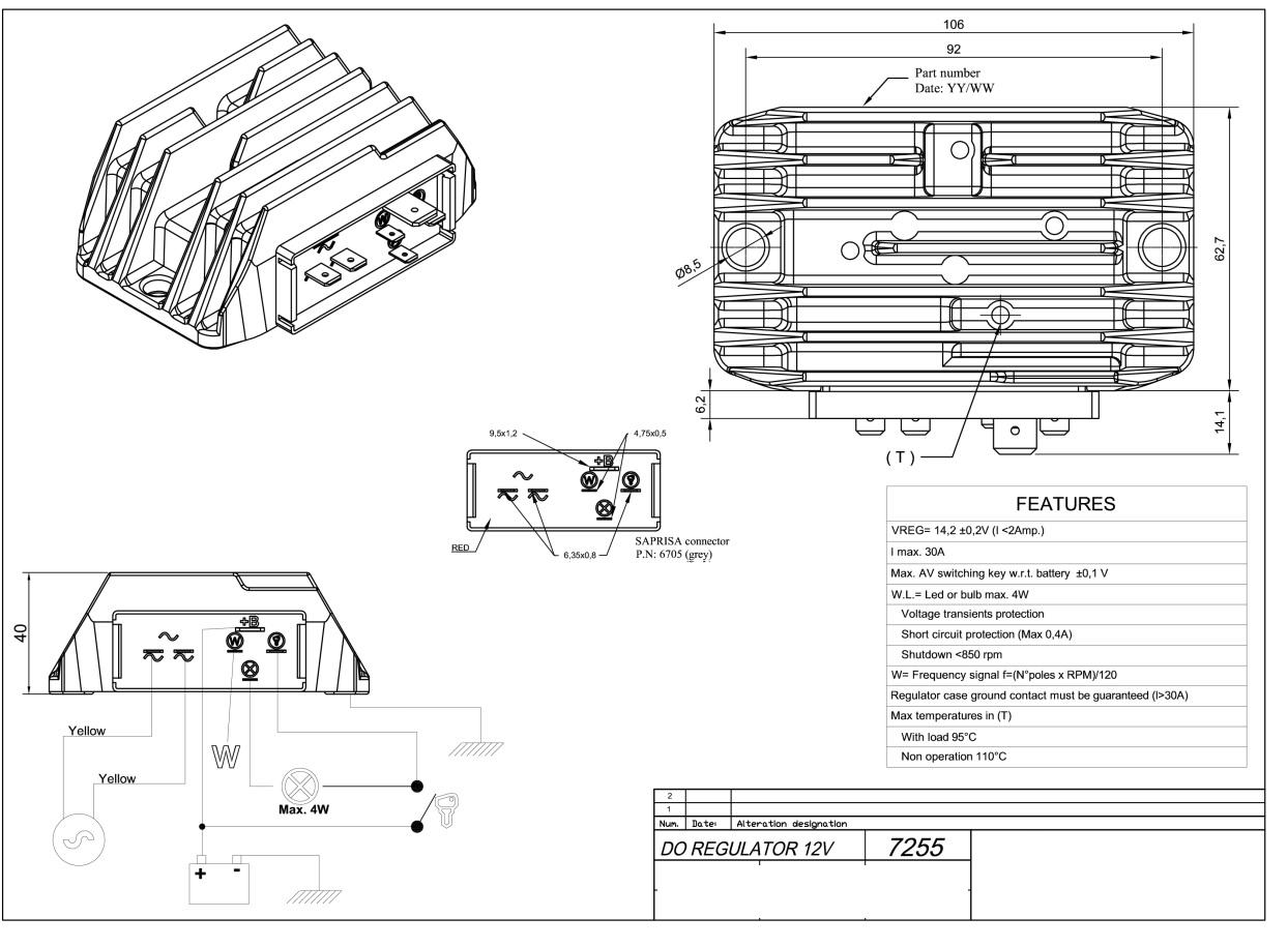 Régulateur LOMBARDINI ED0073624020-S - SAPRISA 7255