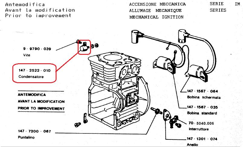 Condensateur IM250 IM300 IM350 INTERMOTOR LOMBARDINI 2522010 / ED0025220100-S