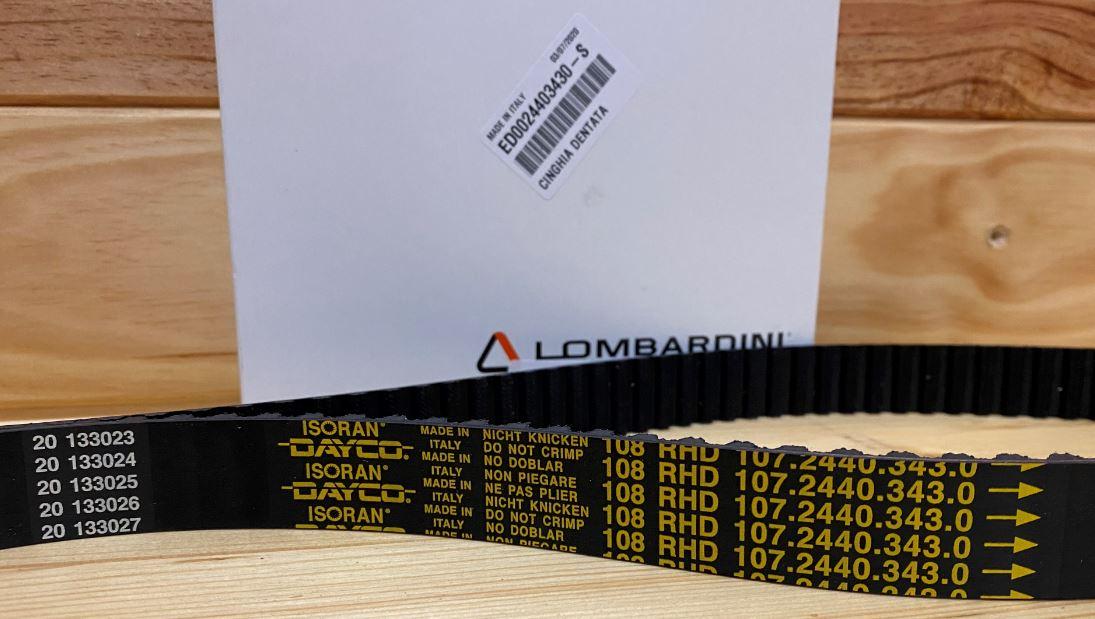 Courroie Distribution LDW502 LGW523 FOCS Nouveau Modèle LOMBARDINI (108 dents ) LOMBARDINI 2440343 / ED0024403430-S - DAYCO ISORAN 108 RHD 107.2440.343.0