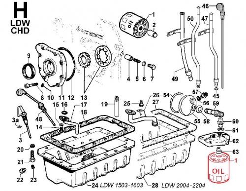 Filtre Huile CHD LDW1503 LDW1603 LDW200 LDW2204 LOMBARDINI KOHLER ED0021751040-S / ED0021752800-S