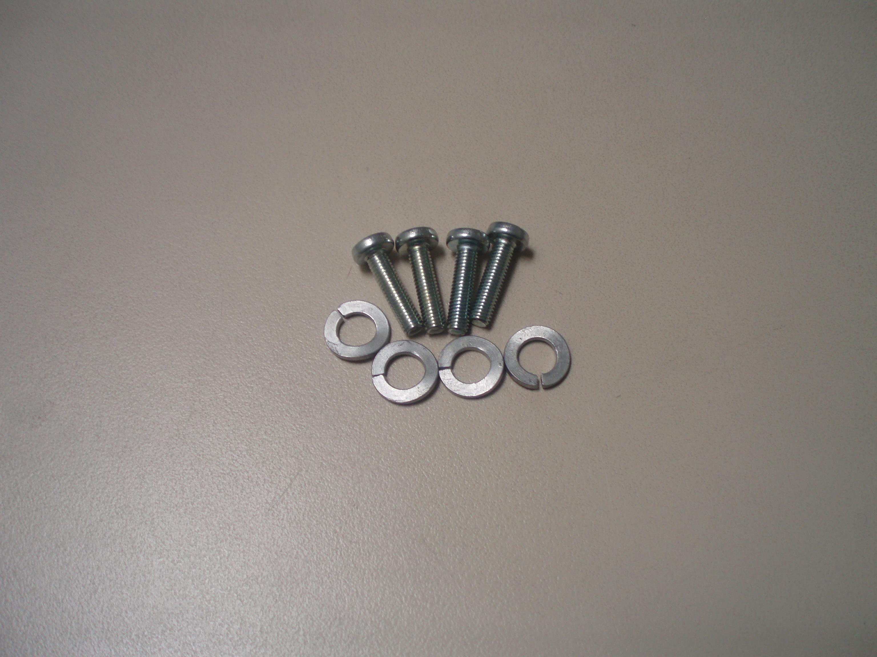 Kit de 4 vis ED0097900390-S + 4 rondelles ED0076250080-S pour lanceur LOMBARDINI ED0014710690-S