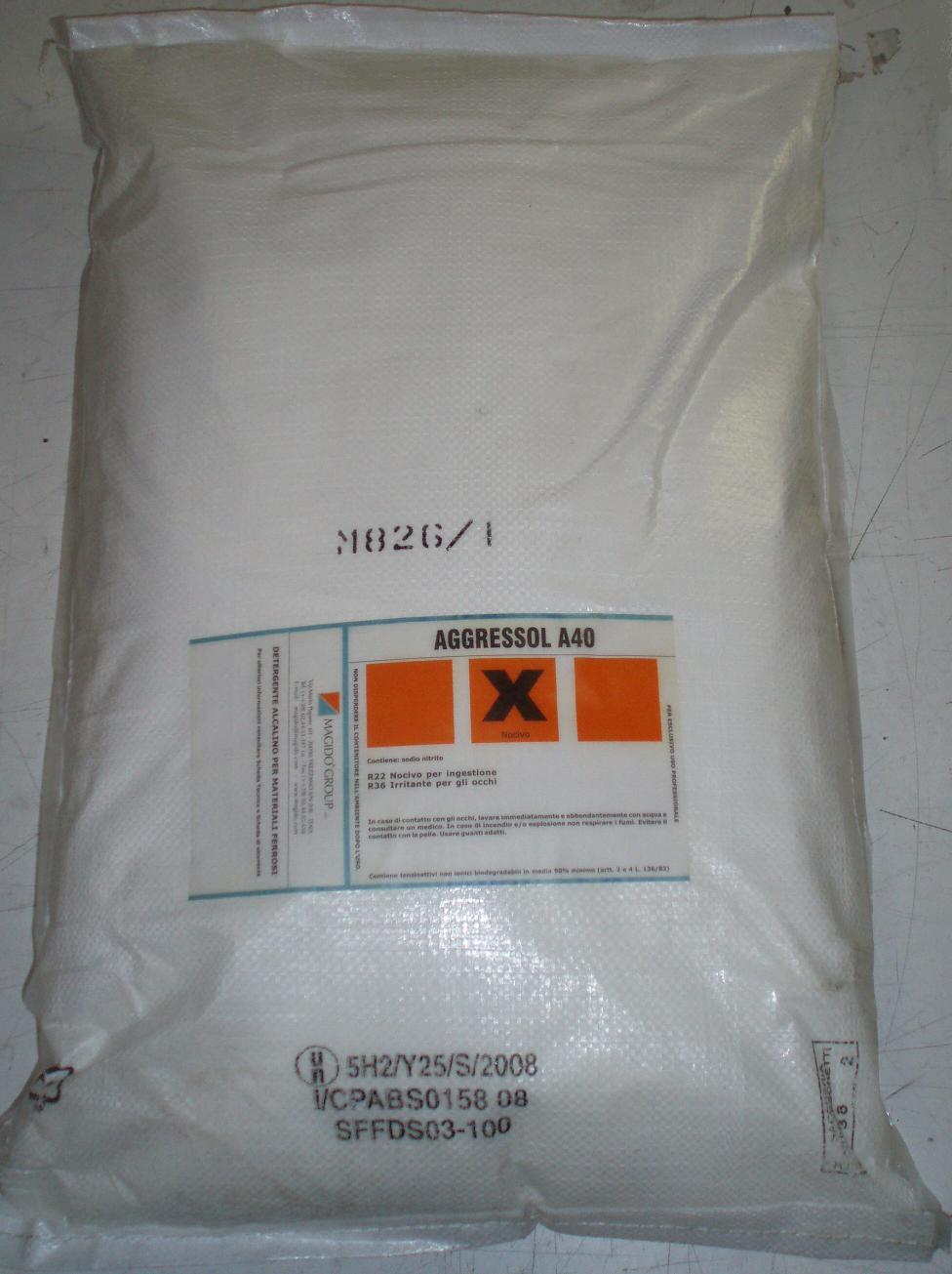 Lessive MAGIDO machine industrielle MAGIDO Group AGGRESSOL A40 DETERGENTE ALCALINO