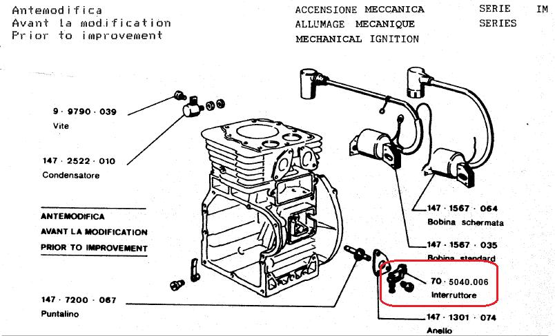 Candle for Motor Lombardini im-ACME a220-intermotor im 250-im300-im350