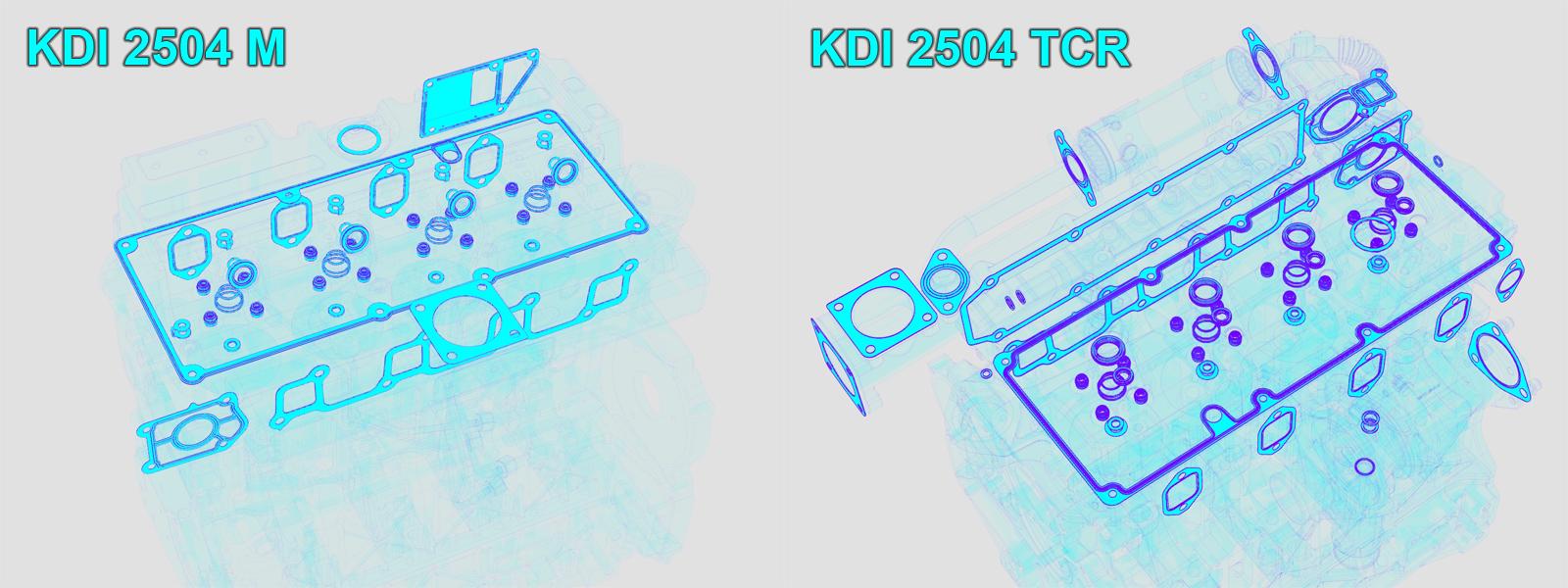 Pochette joints KDI2504 KDI2504TCR KOHLER ED0082051320-S - 8205132