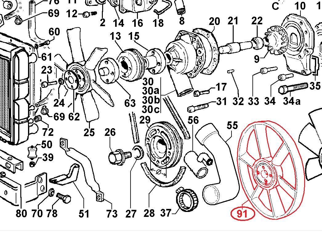 Helice FOCS et CHD LDW1503 LDW1603 LDW2004 FOCS LDW903 LDW1003 LDW1204 LDW1404 LOMBARDINI (9718325 - 9718245)
