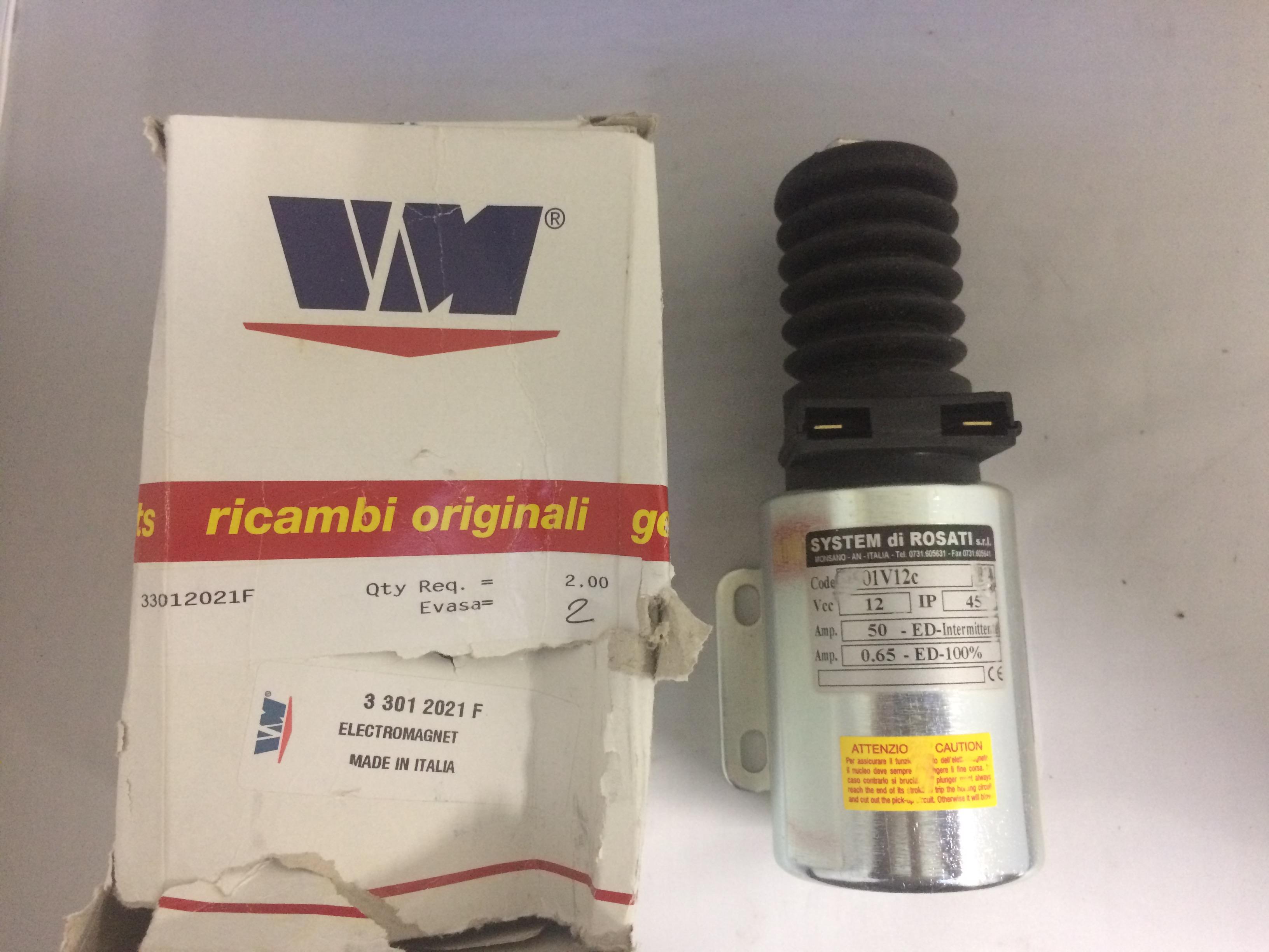 Electrostart / Electromagnete VM Motori 33012021F - VM SUN 2105 - SUN 3105 / T - SYSTEM Di ROSATI 01V12c