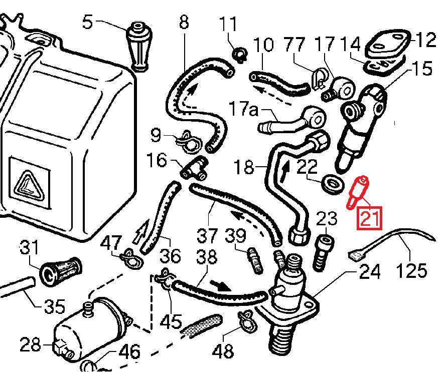 Nez Injecteur 15LD350 LOMBARDINI KOHLER KD350 AD350 ACME Motori RY75 RUGGERINI [6531447 - SDLLA160M332 - STANADYNE 33281]