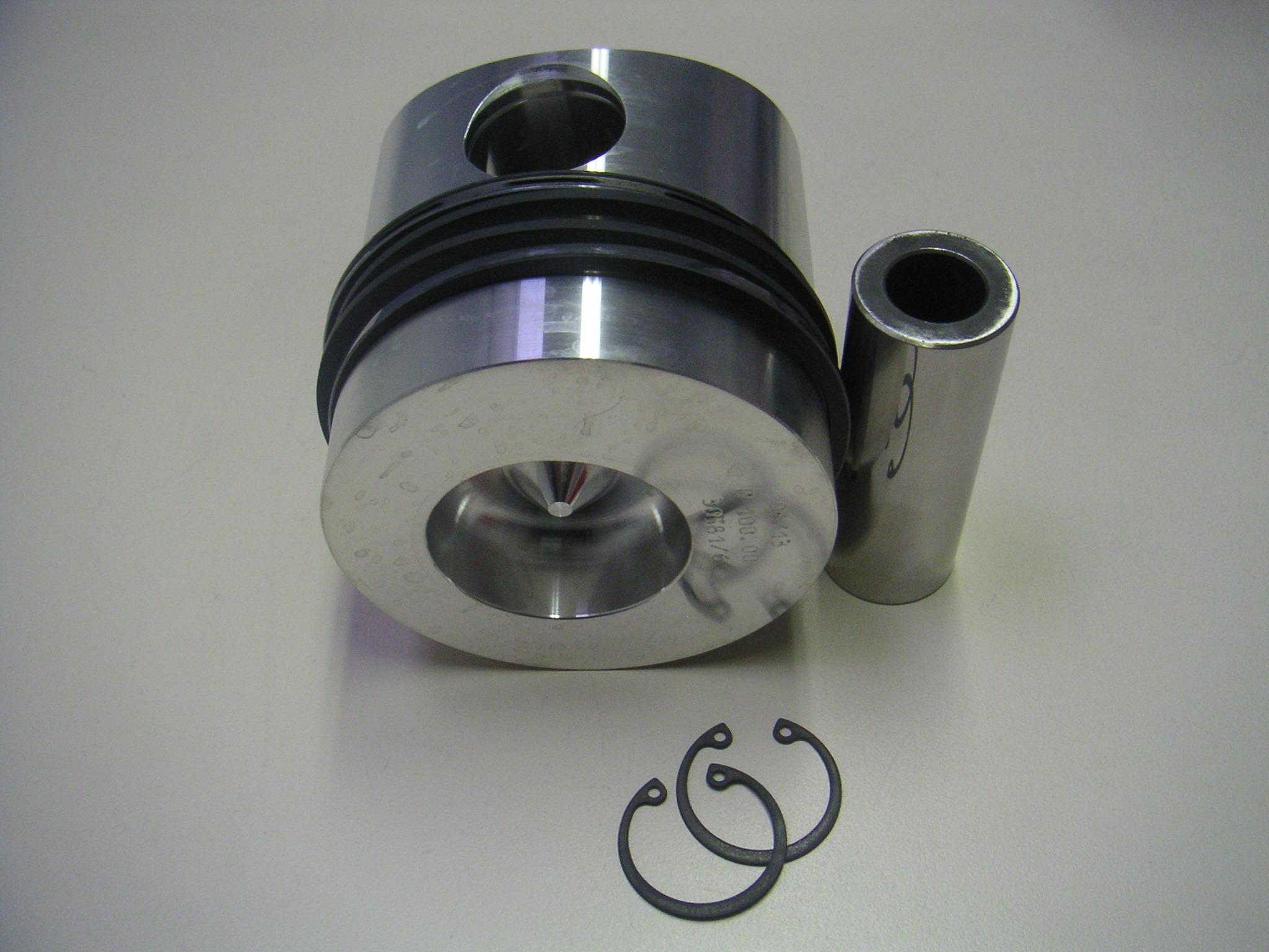 Piston complet LDA832 LDA833 LDA834 5LD825-2 Ø100.00mm - Adaptable LOMBARDINI (FIN175PC00 - 3058104003 - 6500154)