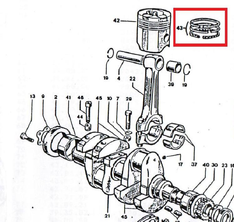 Segments DVA1030 DVA1550 DVA515 SLANZI LOMBARDINI (Ø86.00 8211091 ou Ø86.50 8211092) 2.50mm 2.50mm 5.00mm