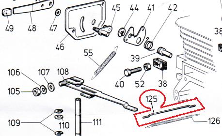 Tige de carburateur LOMBARDINI 2183031 - ED0021830310-S