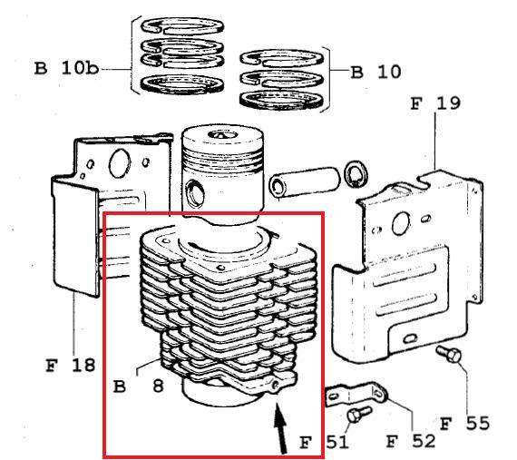 cylindre 3ld510 lda510  u00f885 lombardini  ancien mod u00e8le 2380083
